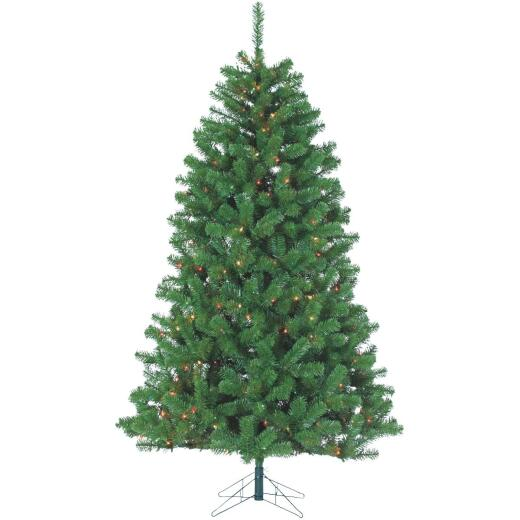 Gerson 7 Ft. Montana Pine 500-Bulb Multi Incandescent Prelit Artificial Christmas Tree