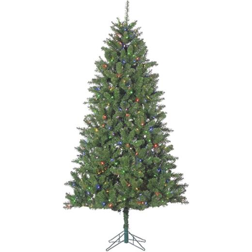 Sterling 7.5 Ft. Columbia Pine 500-Bulb Color Changing LED Prelit Artificial Christmas Tree