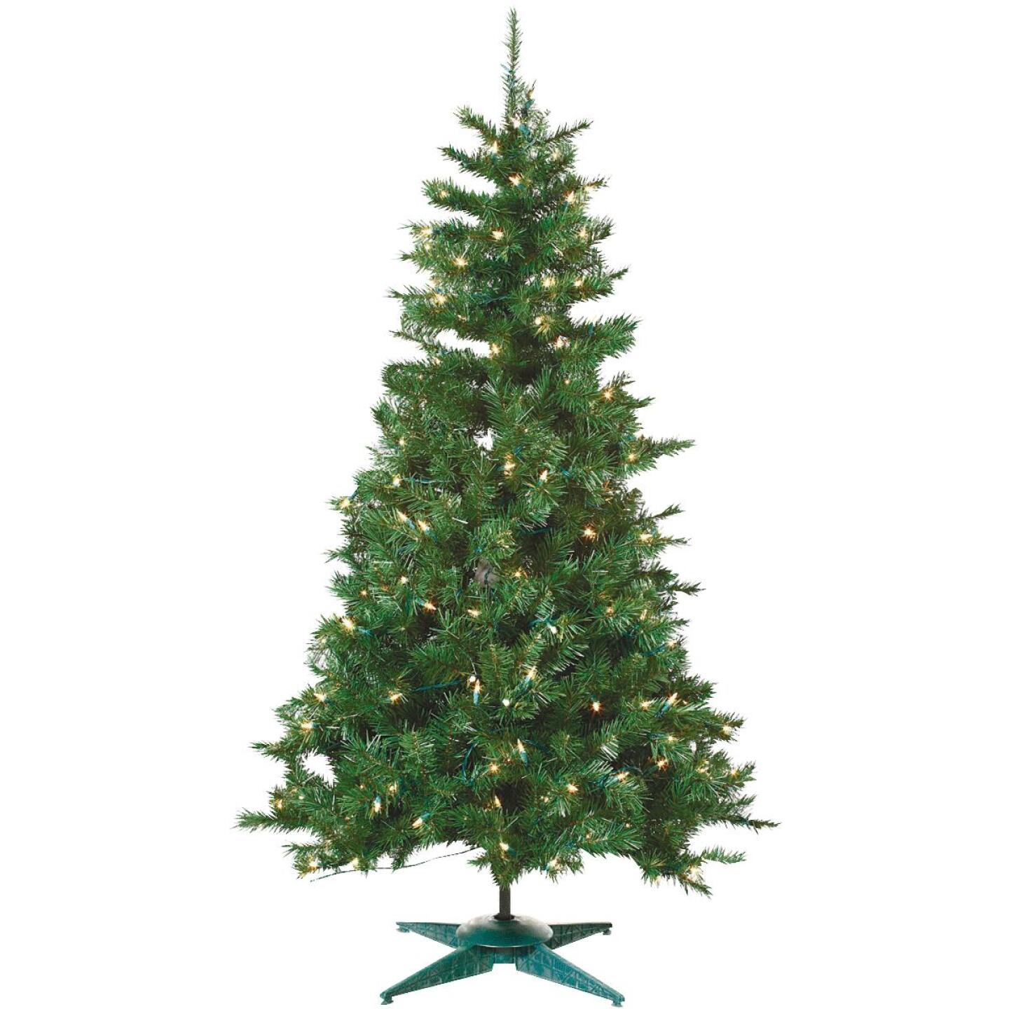 Sterling 3 Ft. Colorado Spruce 100-Bulb Clear Incandescent Prelit Artificial Christmas Tree Image 1