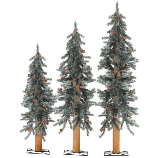 Sterling 2 Ft./3 Ft./4 Ft. Alpine Unlit Artificial Christmas Tree Set