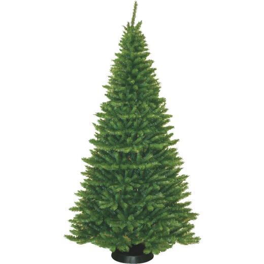 General Foam 7.5 Ft. Moss Grand Fir Slim Unlit Artificial Christmas Tree