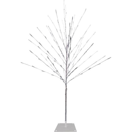 Alpine 5 Ft. 150-Bulb Cool White Twinkling LED Prelit Artificial Christmas Tree